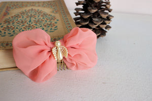 Vintage Inspired Hair Bows on Combs