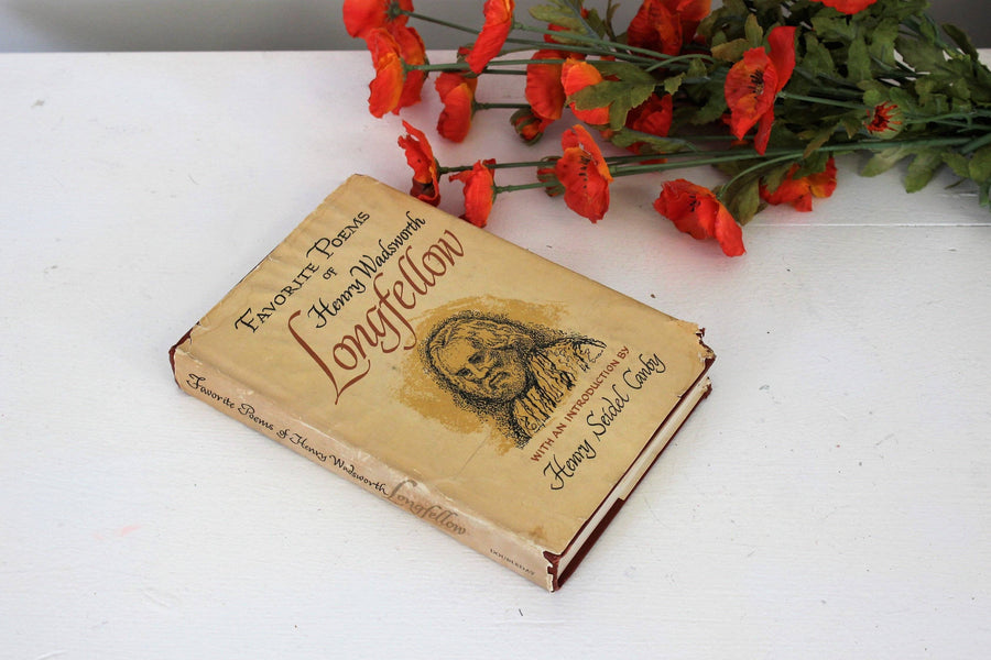 "Vintage Book  ""Favorite Poems of Henry Wadsworth Longfellow""  with intro by Henry Seidel Canby, 1967"