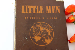 "Vintage Book ""Little Men"" by Louisa May Alcott, 1940"