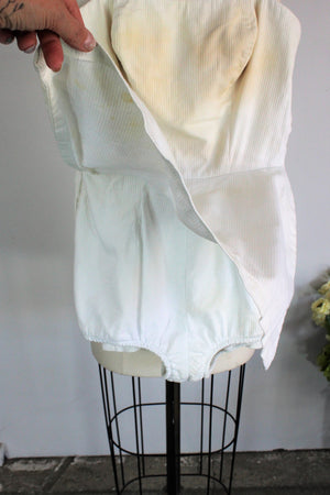 Vintage 1950s White Swimsuit by Elon, John Weitz