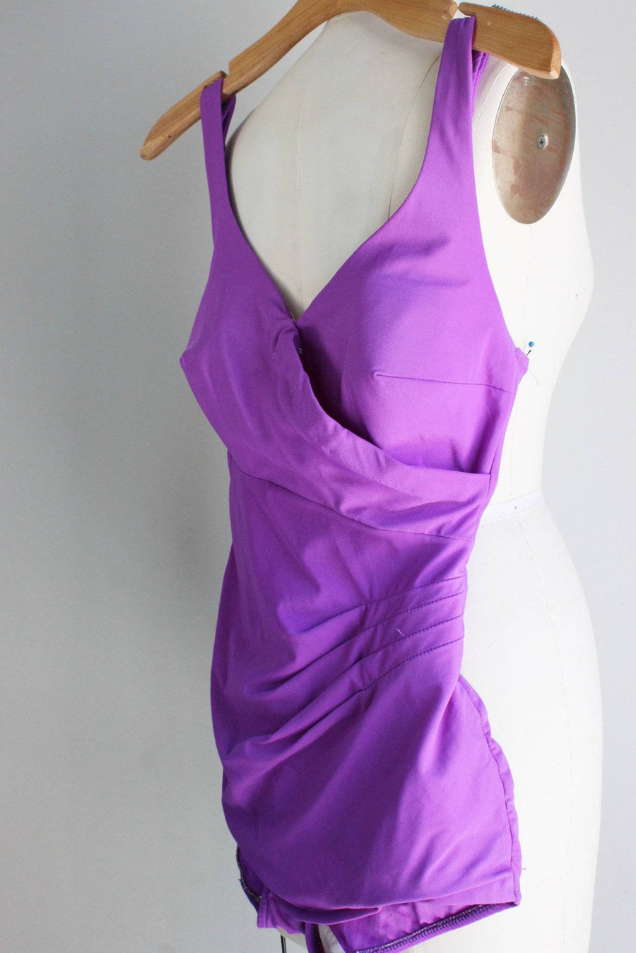 Vintage 1970s Purple Swimsuit, Roxanne Swimwear