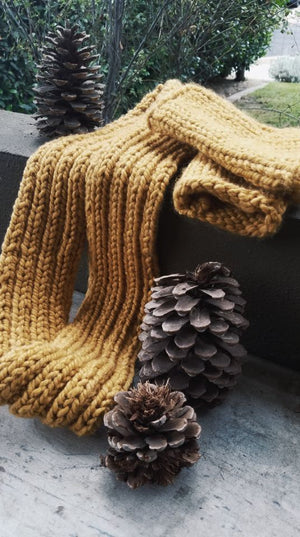 The Goldenrod Handmade Infinity Scarf