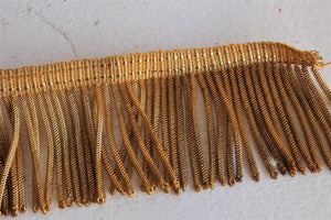 "Vintage 1910s 1920s Fringe Bullion Trim / Gold and Silver, Six Pieces, 68.5"" Total"