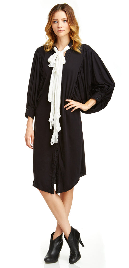 MARK AND ESTEL / Balloon T Shirt Dress / White or Black