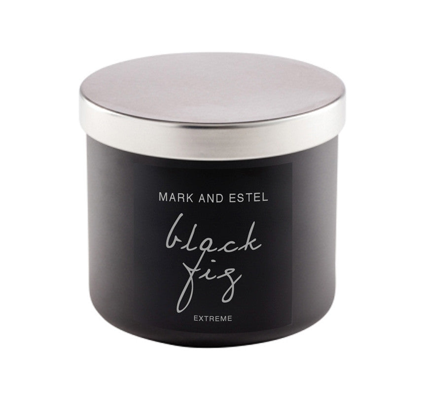 Mark and Estel EXTREME X-LARGE 3 Wick Scented Soy Candle - Black Fig