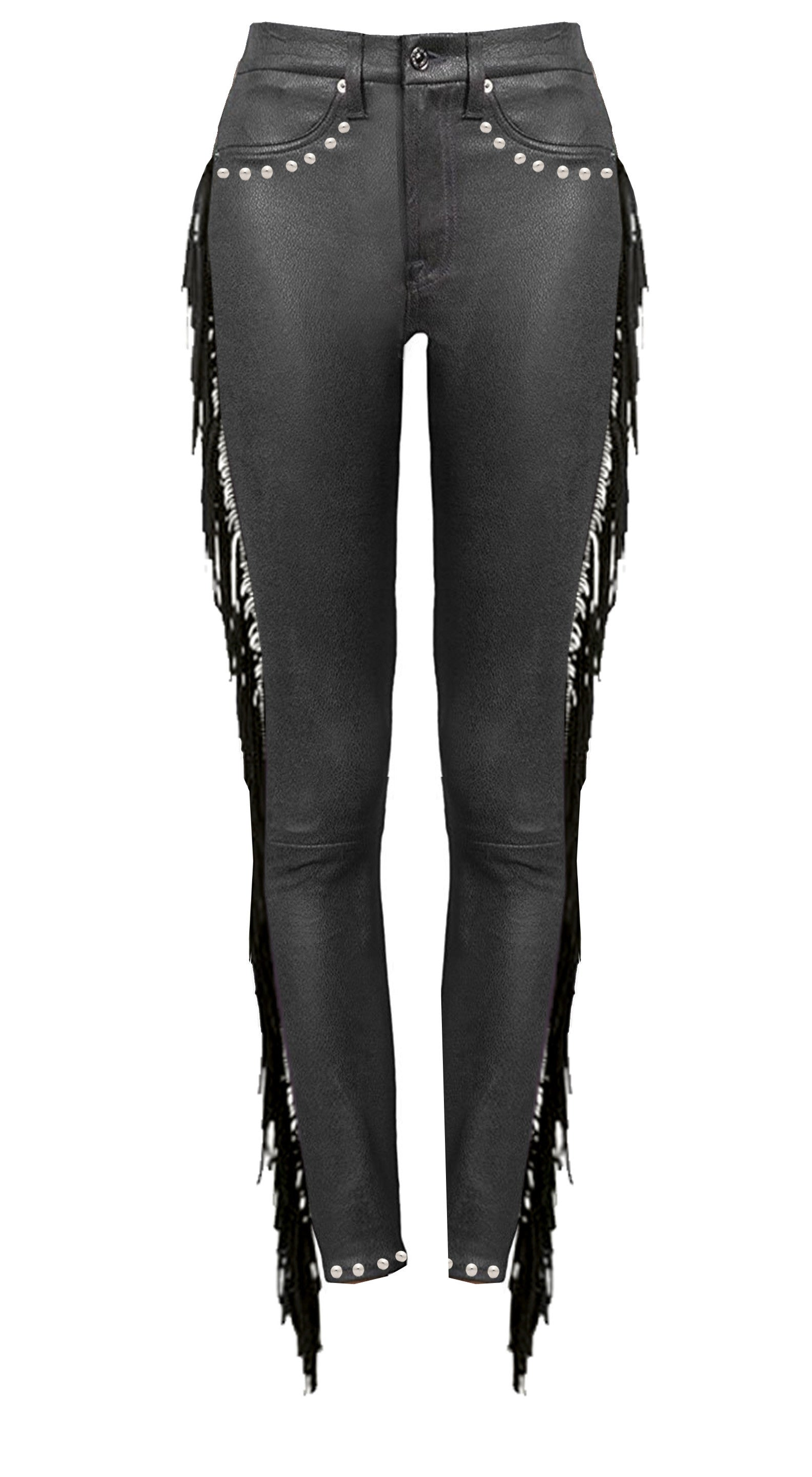 "Redesigned 7 For All Mankind by Mark and Estel- ""Rockstar Western Cowboy Faux Leather Trousers"" (Several Sizes)"
