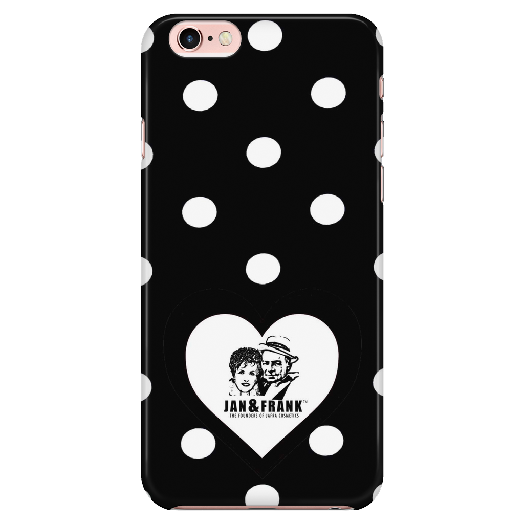 6/6S IPHONE CASE- JAN AND FRANK POLK-A-DOT HEART CASE