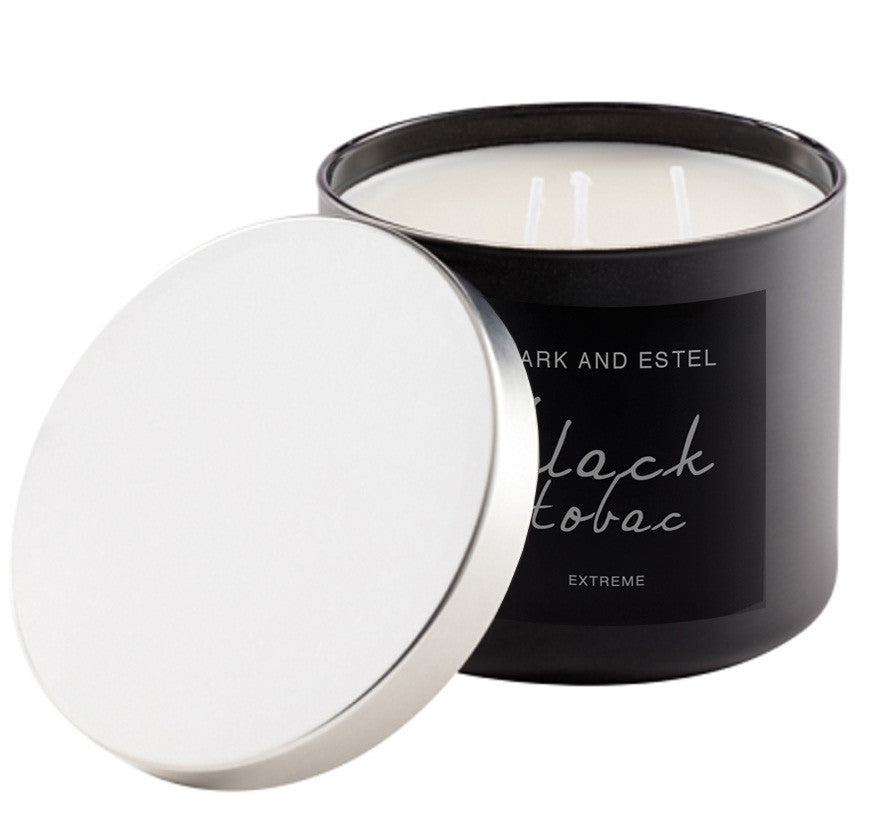 Mark and Estel EXTREME X-LARGE 3 Wick Scented Soy Candle - Black Tobac