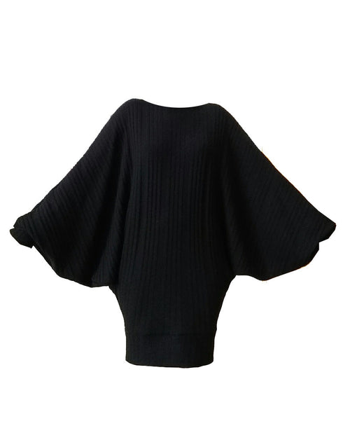Mark and Estel Cashmere Off Shoulder Batwing Sweater Dress- All Sizes