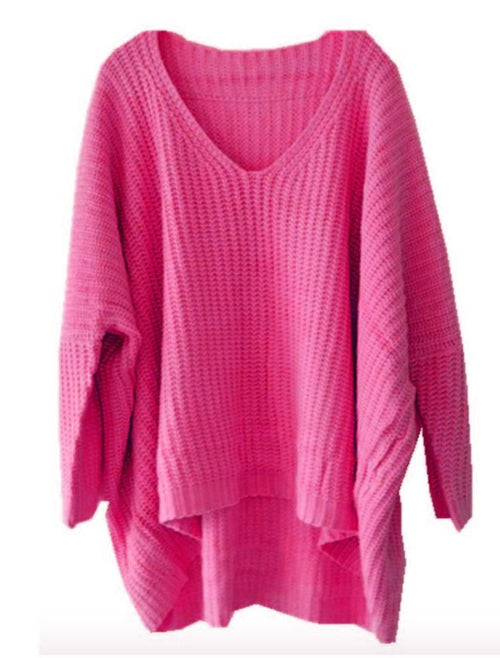 The Brightest Sweater in the World in color HOT PINK