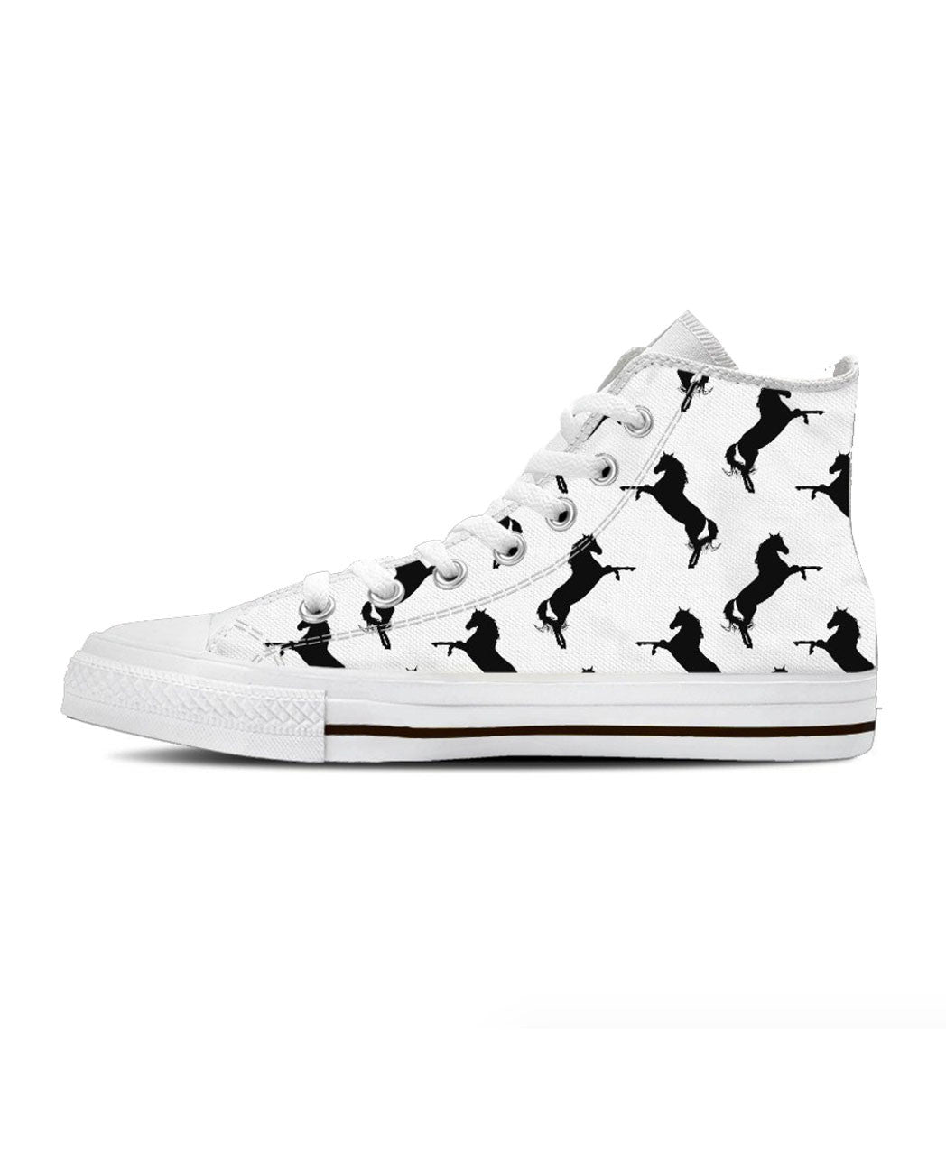 "Mark and Estel ""The H&S Horse"" Hi Top Sneakers"