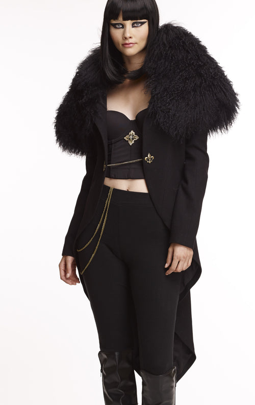 Mark and Estel Collection Mongolian Fur Coat