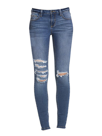 The Ultimate Threader Lace Up Rockstar Skinny Jeans