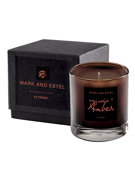Mark and Estel EXTREME Scented Soy Candle - Magnolia Amber