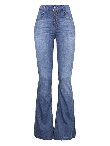 Laverne Light Wash High Rise Bellbottom Jeans (Sizes 25 - 32)