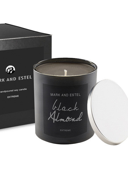 Mark and Estel EXTREME Scented Soy Candle - Black Almond