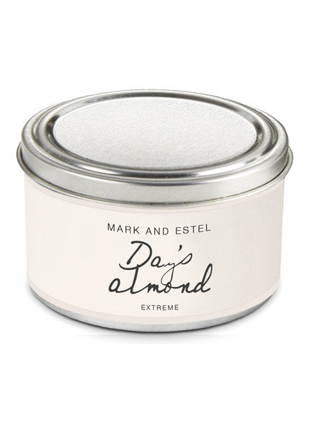 Mark and Estel EXTREME Scented 6oz Tin Soy Candle - Day's Almond