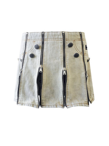 Button Up Your Denim Knee Length Skirt (Size 4 - 16)