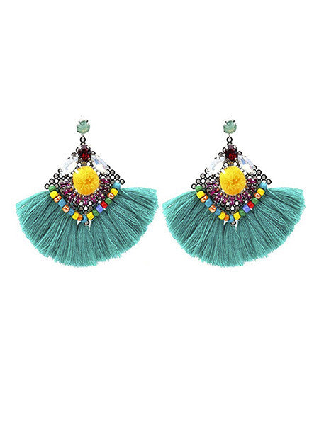 Rockstar Chic Fringe Fan Earrings