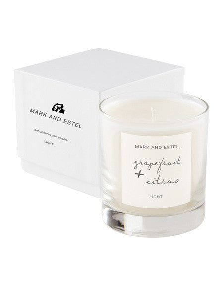 Mark and Estel LIGHT Scented Soy Candle - Grapefruit + Citrus