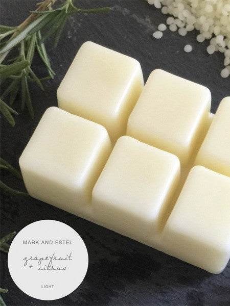 Mark and Estel LIGHT Scented Soy Melts - Grapefruit + Citrus