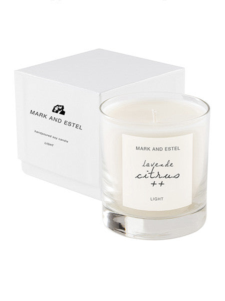 Mark and Estel LIGHT Scented Soy Candle - Lavende Citrus ++