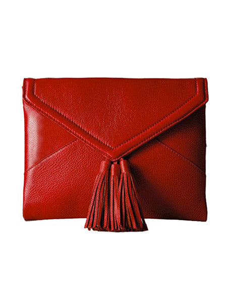 Little Red Riding Leather Clutch (also available in Black)