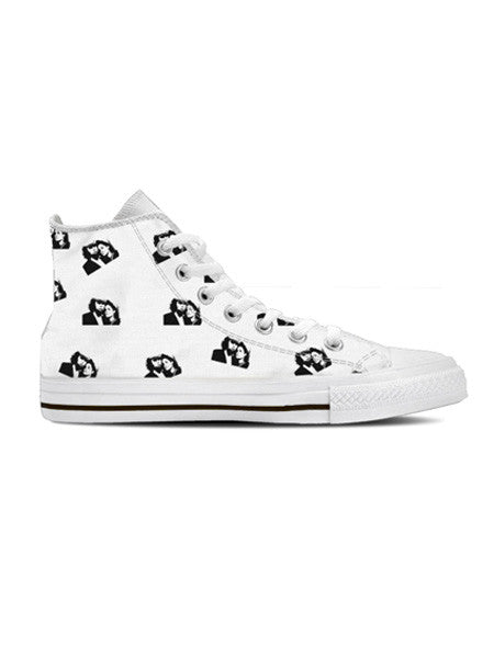Mark and Estel Crooked Logo Hi Top Sneaker (womens)