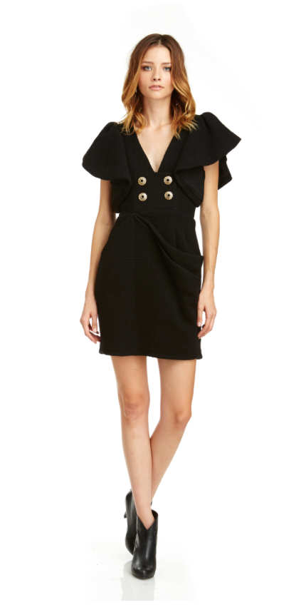Mark and Estel Wing Sleeve Suit Dress