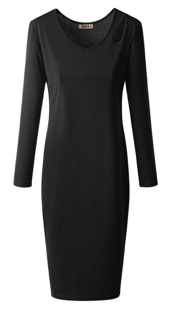 The Cut-Out Courtney Dress in Black