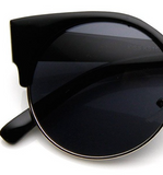 Semi Rimless Cat Eye Sunglasses