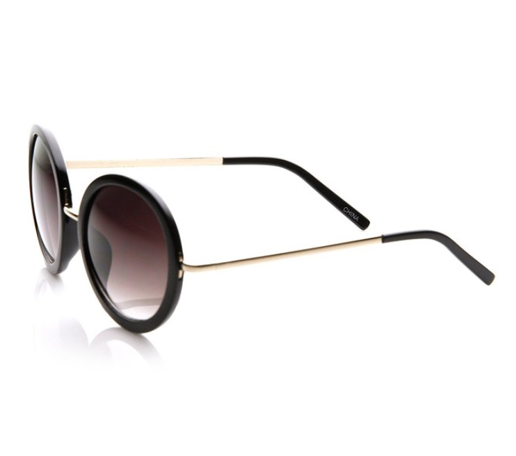 A-List Oversized Round Sunglasses
