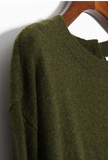 Amazing Long Sweater in Olive Green