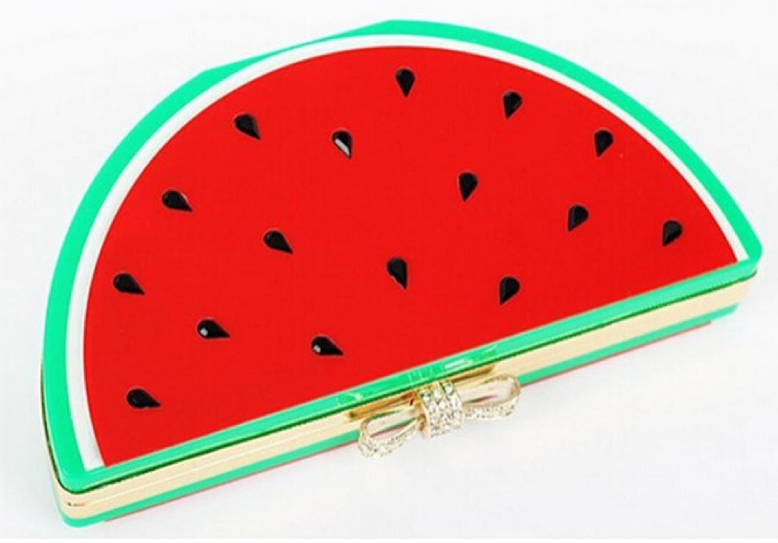 Abby's RAD Acrylic Watermelon Clutch