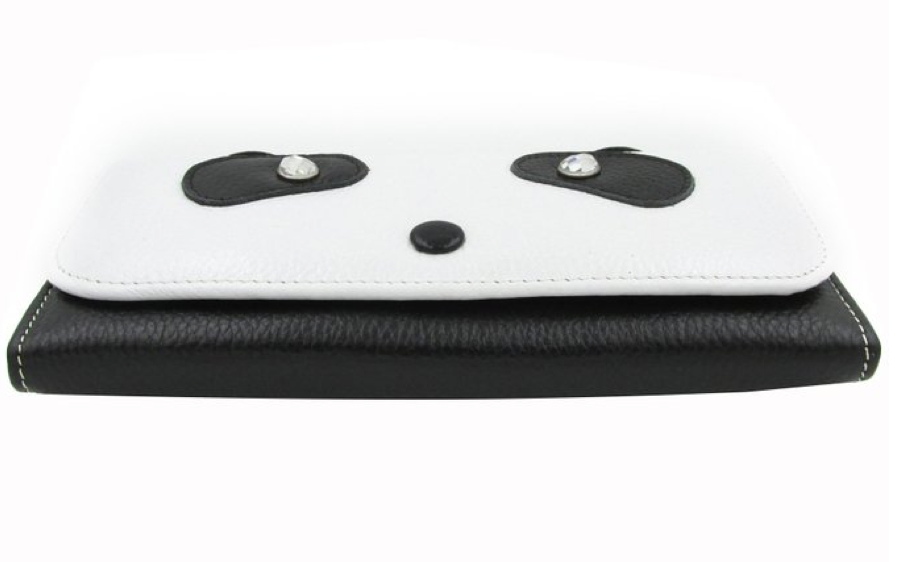 Party All Night Panda Clutch- Italian Leather