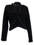 Zipper Buckle Blazer (Sizes XL - 3XL)