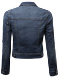 The Perfect Fitted Stretch Jean Jacket (Sizes XL - 3XL)