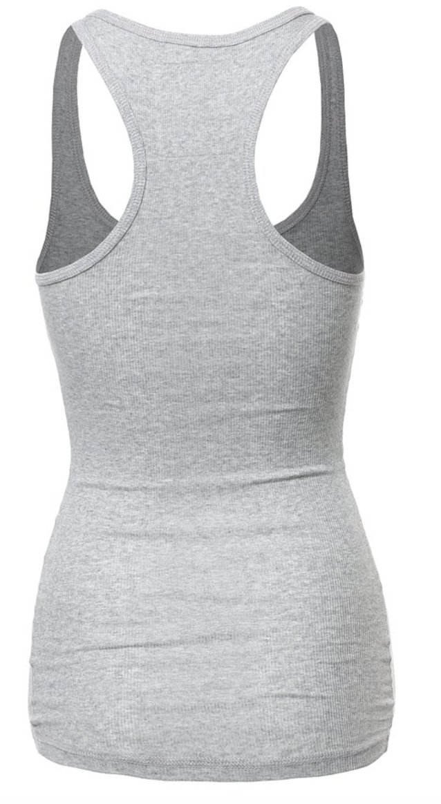 Perfect Heather Ribbed Tank Top (1XL - 3XL)