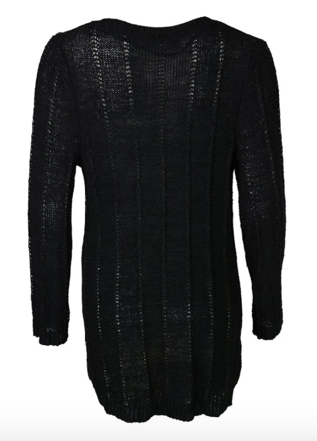 Lightweight Layering Sweater in Black