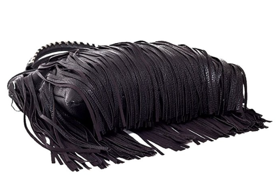 Vegans Can Rock Fringe Too Large Bag (Black)
