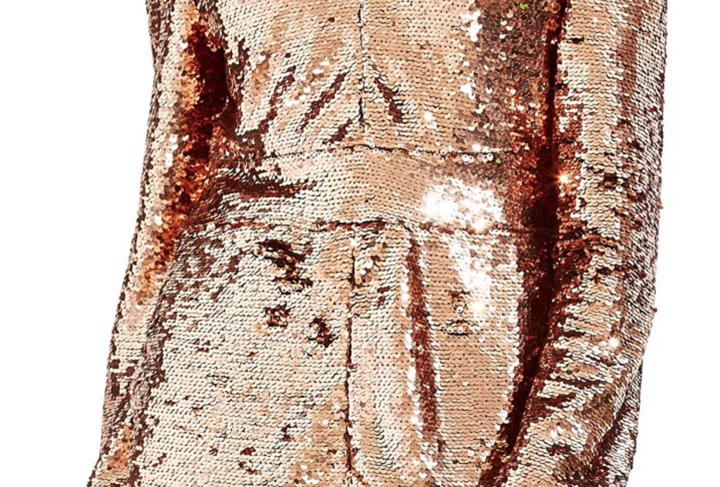 Party All Night Rose Gold Jumpsuit
