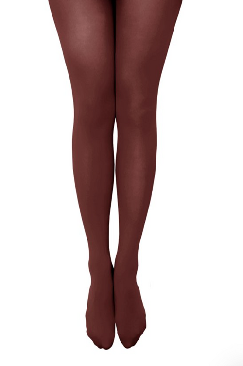 Party All Night Semi Opaque Tights in Color Wine