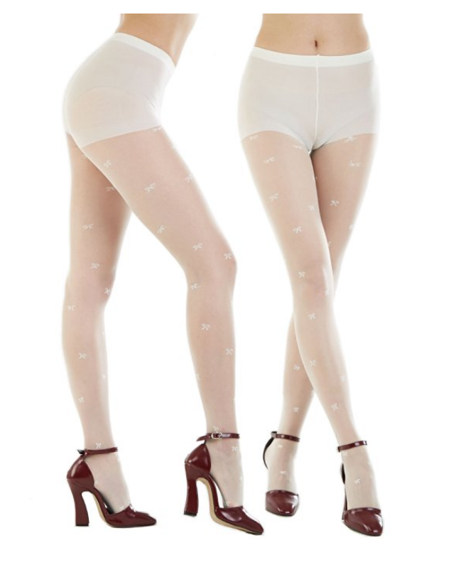 Pretty in White Tights - Package of 3- S/M