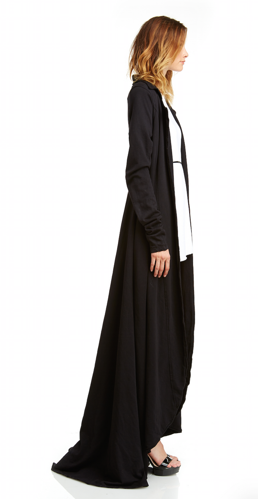 Mark and Estel / Cascade Maxi Coat / Army or Black / Large