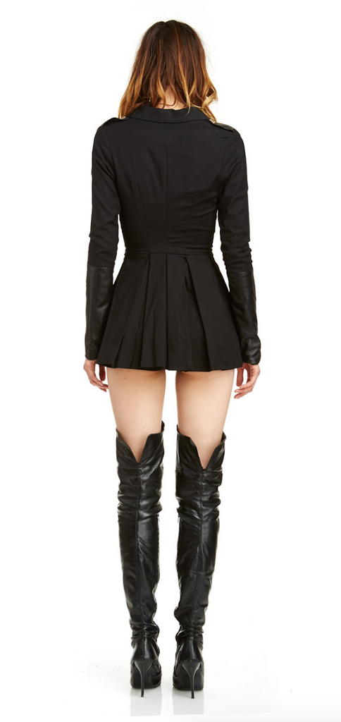 Mark and Estel Collection Military Zipper Dress