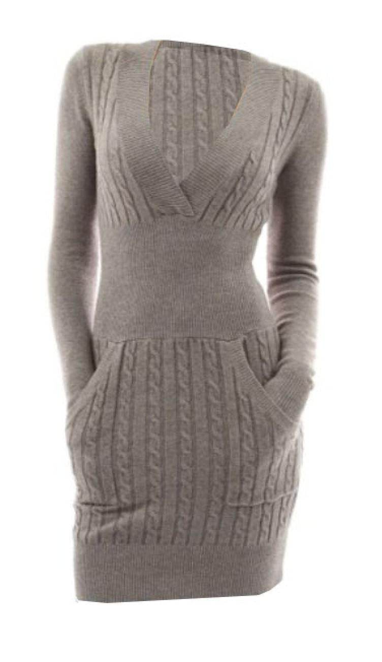 Kiss Me Cable Knit Sweater Dress in Heather (S - XLarge)