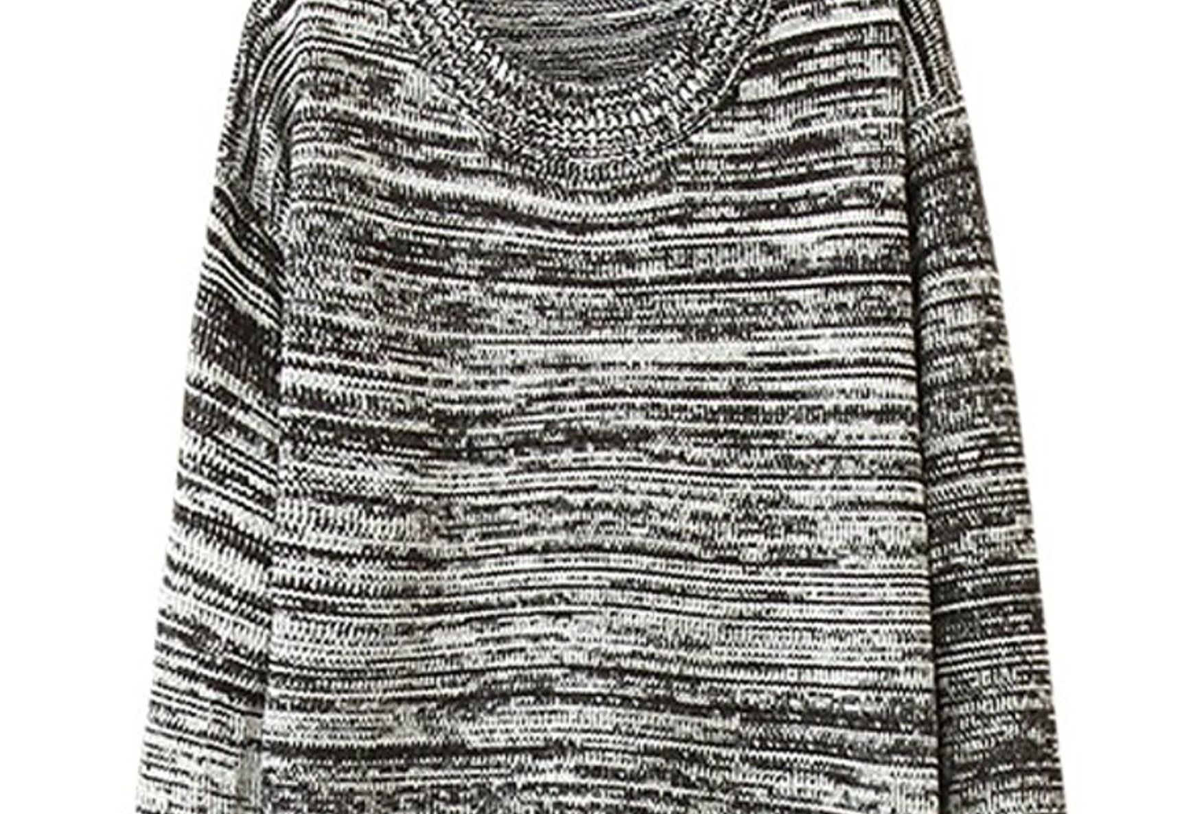 Cotton Slouch Sweater Dress in Small