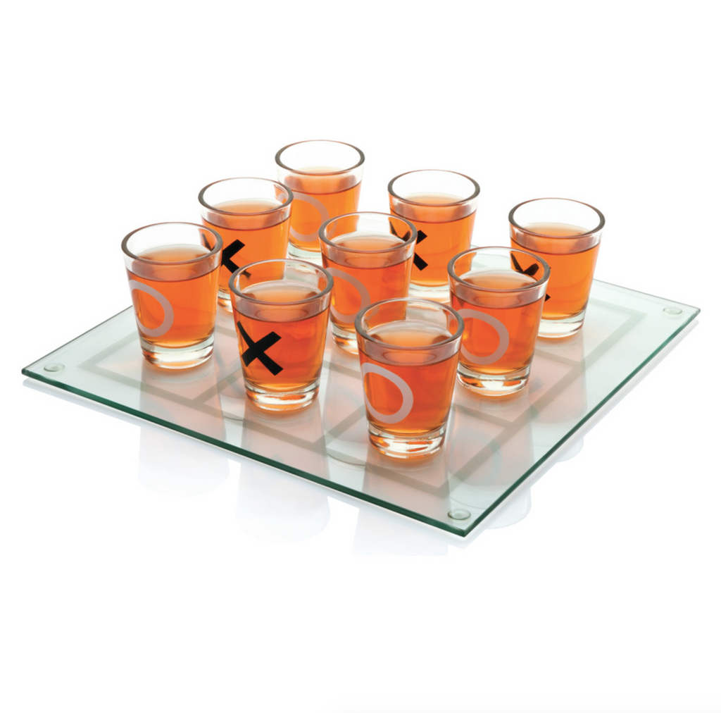 Tic Tac Toe and Lets Drink Game and Shot Glasses
