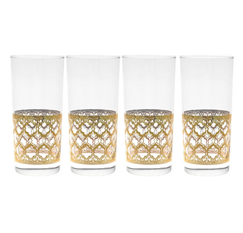 22K Gold & Glass Rockstar Tumblers Set of 4