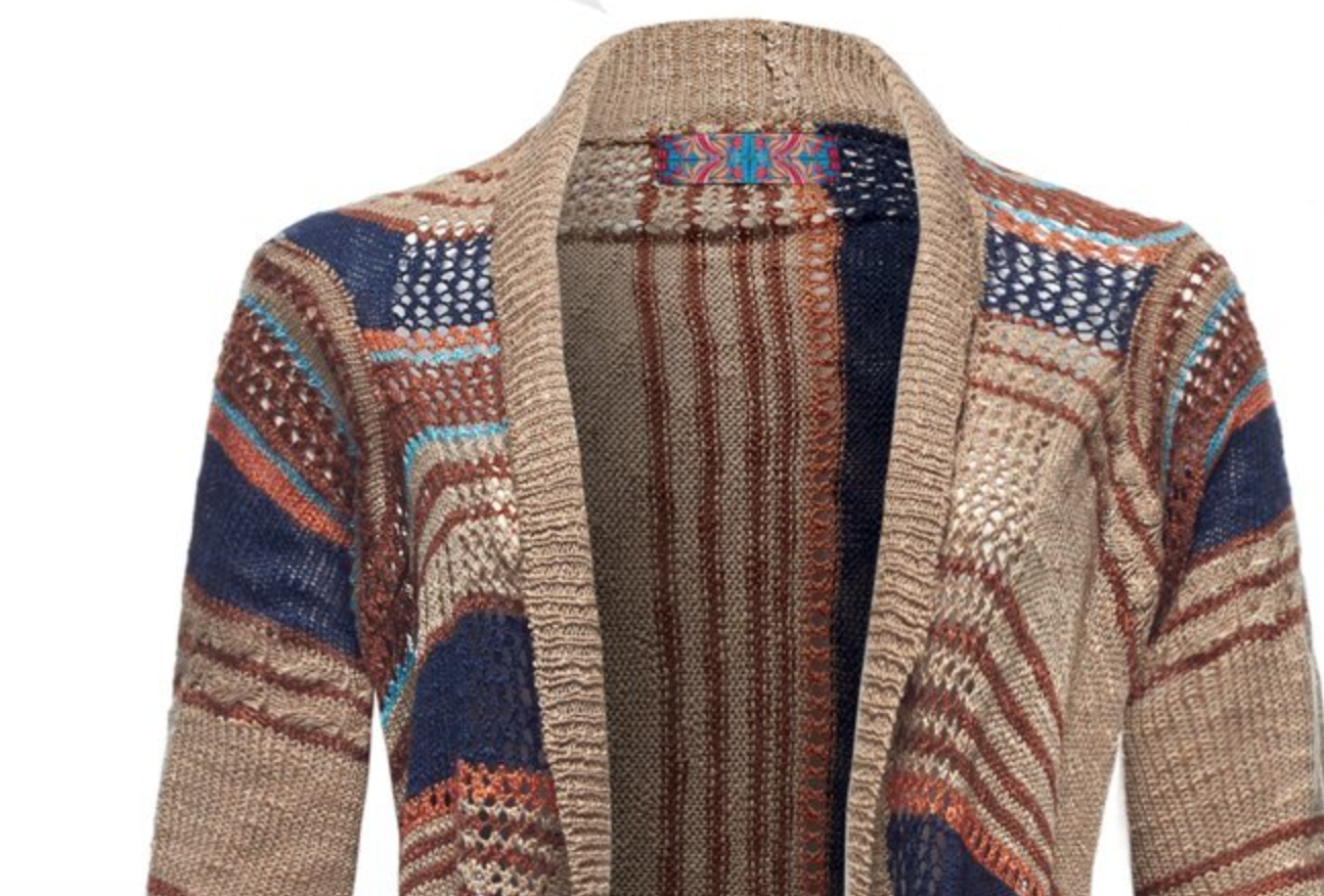 Shaggy Tribal Love Sweater in X-Small and Large